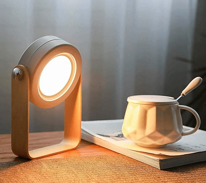 A bedside reading lamp