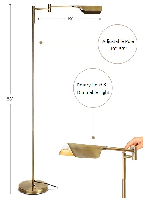 Brightech floor lamp for tasks