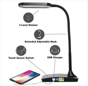 Buy best touch control lamp for eye strain prevention