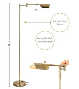 Brass Floor Lamp with Pharmacy Style