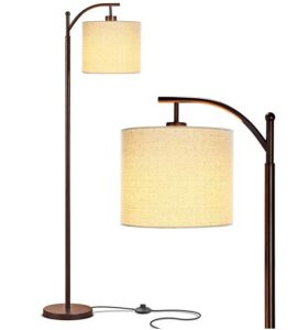 traditional floor lamp with arched arm