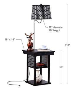 Best adjustable lamp with table & shelf