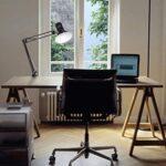 metal architect swing arm led desk lamp