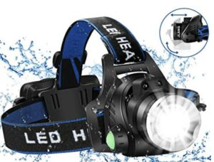 best usb rechargeable led headlamp with 4 modes