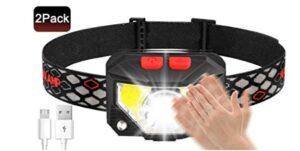 best waterproof headlamp with 800 lumens 2 pack