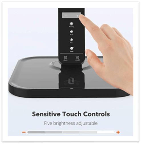 touch sensitive desk lamp