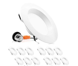 12 pack led recessed light for ceilings