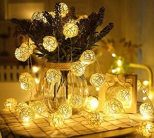 best indoor decorative string lights with ball style