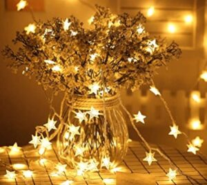 twinkle star string lights for Christmas trees