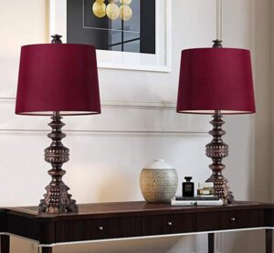red table lamp for living room