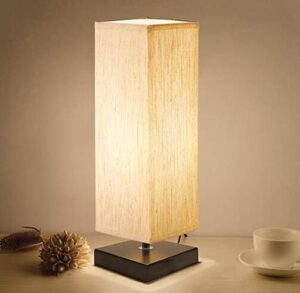 modern table lamp wirh wood base