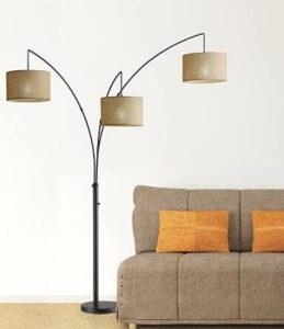 3-light extra tall floor lamp