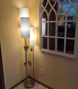 Adesso floor lamp with 3 light