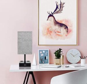 Elegant touch control table lamp set