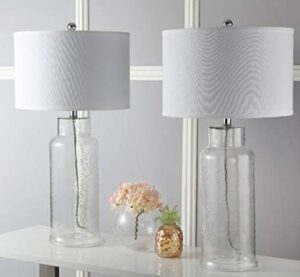 clear glass bedroom table lamp