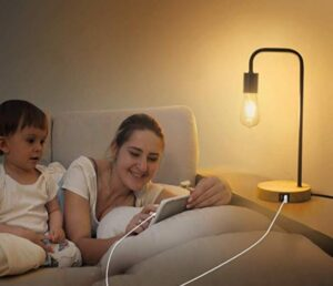 bedside lamp with replaceable bulb
