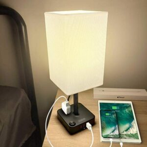 Square table lamp for bedroom