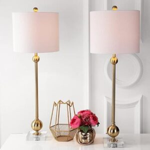modern tall lamp pair
