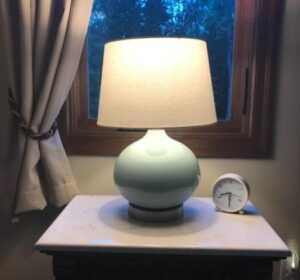 bedroom table lamp made of ceramic