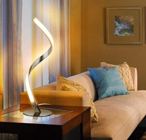 bedside lamp with twist light