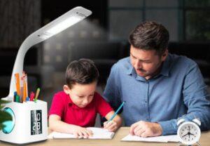 desk lamp with pen holder for multi use
