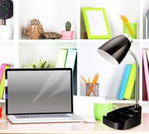 adjustable desk lamp with pen holder