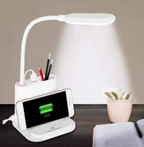 led desk lamp woth pen holder
