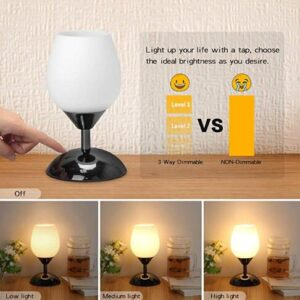 touch operated nursery lamp