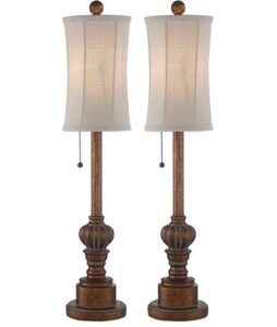 traditional tall lamp set