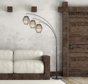 3-light large overhanging floor lamp
