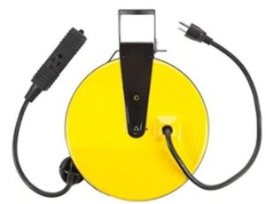 Bayco Retractable metal cord reel with 3 outlets