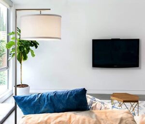 Brightech large chrome floor lamp