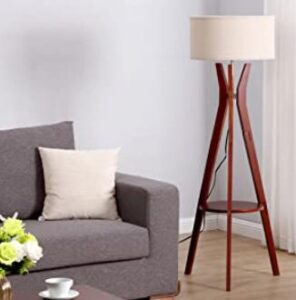Brightech wood tripod lamp