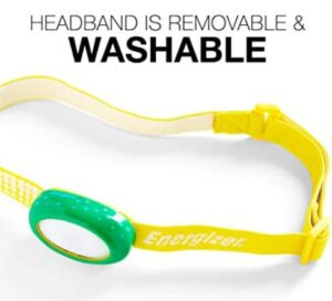 Headlamp for kids with washable band