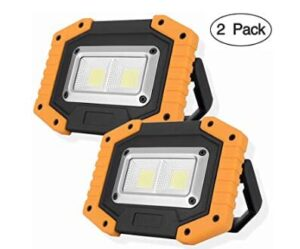 2 pack rechargeable work lamps