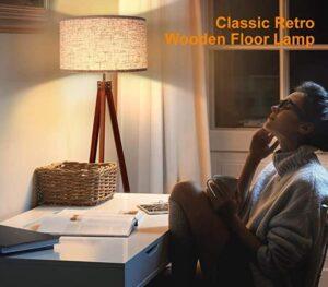 Lepower Mid Century Tripod Floor Lamp for Large Room