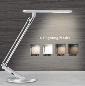 Swing arm desk lamp for home office