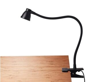 Clip on desk lamp for home office workbench