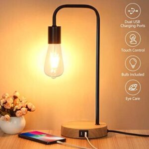 bedside reading lamp with touch control