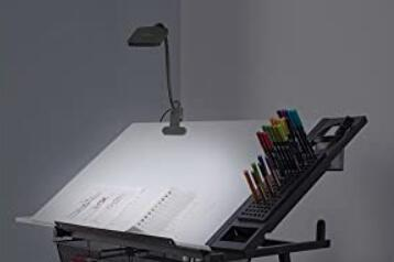 compact clip on lamp for drawing tables