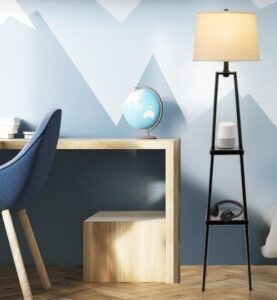 tripod floor lamp with shelf