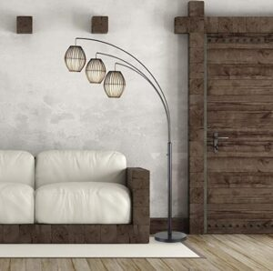 Adesso 3-light contemporary arc floor lamp