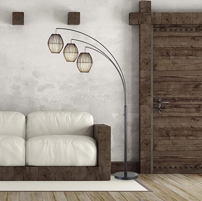 Adesso 3-light contemporary arc floor lamp