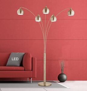 arc sectional floor lamp with shades