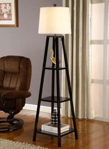 tripod style floor lamps with shelf
