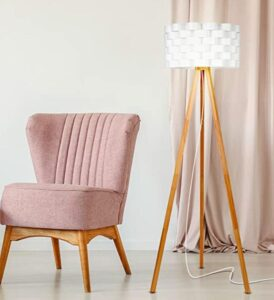 Brightech wooden tripod floor lamp