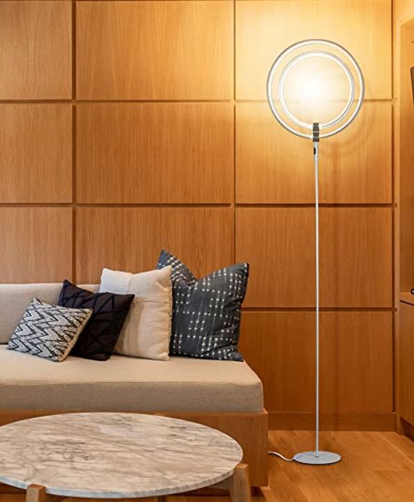 Brightech bright floor lamp for windowless living rooms