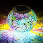multi colored solar crystal glass globe ball light