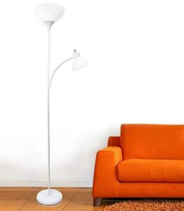 Modern Floor Standing Torchiere Lamp with Reading Light
