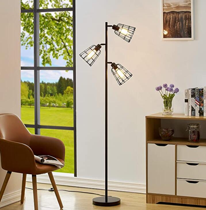 3-light floor lamp for a dark living room